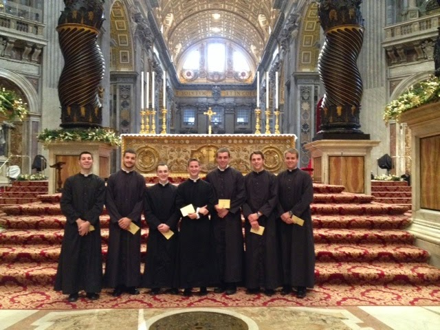 dio seminarians serving christmas mass 2014