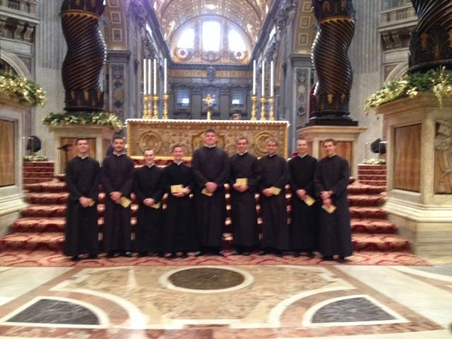 seminarians serving christmas mass 2014