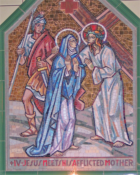 The Fourth Station - Jesus meets his Mother