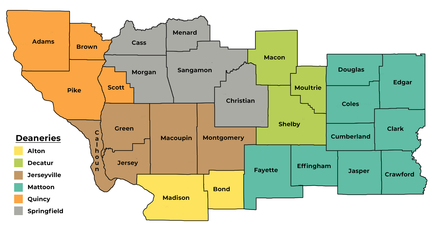 Deaneries of the Diocese of Springfield in Illinois